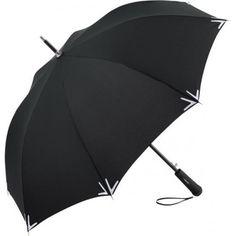 Aufmerksamkeitsstarker Automatik-Stockschirm mit Reflektoren und LED-Leuchte Fare Regenschirme bedruckt