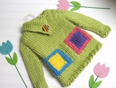 Sweater Knitting Pattern Blocks of Color Split Funnel Neck Child 3 to 8 years old by LaurelArts for $4.50
