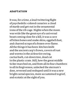 Bright Dead Things poem by Ada Limon