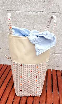 xxl laundry bag geometrical triangle natural modern canvas hamper bucket bin organizer toys box with pockets