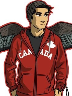 Okay this is the best drawing of Frank like come on! Who would even think of a beenie on him? LOVE IT. other than the wings