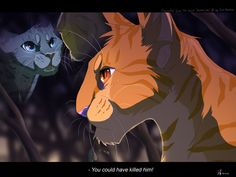 """You could have killed him!"" Cynderheart to Lionblaze. By Mizu-no-Akira on Deviantart.com"