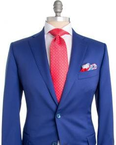 Image of Belvest Solid Bright Blue Sportcoat