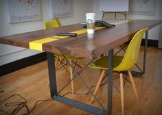 Salvaged Wood Dining Table with X-Frame Base – Recycled Brooklyn Inc.