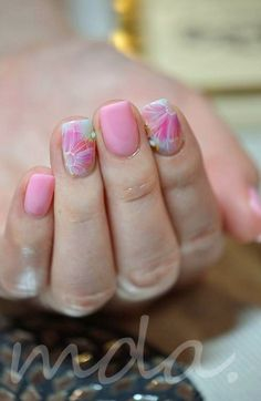 暖かい週末(でも夜にはすっかり寒い東京、、。)指先はすっかり春が届いてますyo♪Ⅰさまchiffon flower / pink なんて綺麗なピンク♥….