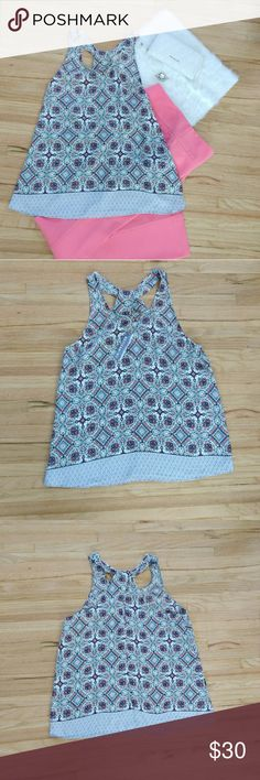 🆕 Artisan NY | Tank Top Time for coffee ☕ with the girls!! Wear this flowy tank top with tribal pattern on it to turn heads.  NWT. Excellent condition.  • 100% polyester • Bust 40 inches • Length 16.5 inches (measured from arms to bottom)  Open to offers! 😘 Artisan Ny Tops Tank Tops