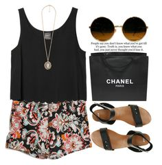 """""""Sin título #82"""" by maartinavg ❤ liked on Polyvore featuring Monki, Chanel, Forever 21 and ASOS"""