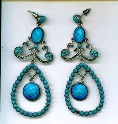 my blue flamenco earrings from spain
