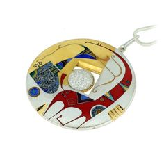 Enamel necklace-Pokani
