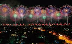 "The ""Phoenix"" fireworks display during the Nagaoka Fireworks Festival."