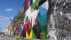 Discover Largest Street Art Mural in the World in Rio de Janeiro, Brazil: Eduardo Kobra's breathtaking graffiti wall took over Rio's Olympic Boulevard. Graffiti Piece, Graffiti Wall, Murals Street Art, Map Wall Art, Map Art, Vienna Map, Rose Street, Framed Maps, Urban Art