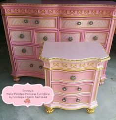 pink+chalk+painted+furniture | hand-painted-princess-furniture-painted-furniture-painting-repurposing ...