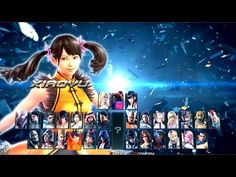 Tekken 1 to 7 All Character Select Screen (1994 - 2017) - YouTube