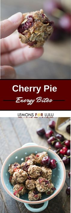 Energy bites that taste just like cherry pie! These little two-bite treats are packed full of goodness!