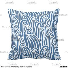 Customizable Throw Pillow made by Zazzle Home. Swirl Design, Outdoor Throw Pillows, Ocean Waves, Create Your Own, Plush, Tapestry, Home Decor, Hanging Tapestry, Tapestries