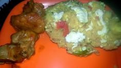 EGG UPMA and Chicken Curry. that's some proteinacious food.. yummmm