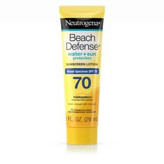Neutrogena Beach Defense Water Resistant Sunscreen Body Lotion with Broad Spectrum SPF Oil-Free and Fast-Absorbing, 1 oz Sport Sunscreen, Uva Rays, Skin Burns, Sun And Water, Broad Spectrum Sunscreen, Neutrogena, 1 Oz, Sun Protection, Body Lotion