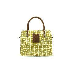 Orla Kiely Handbags - Jeanie Acorn Cup Print - Olive - Muse Ten ($245) found on Polyvore