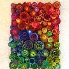 Garden II made of cardboard by Suzi Furtwangler