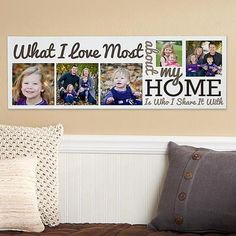Personalized Heart of the Home Canvas