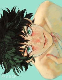 Midoriya Izuku  |  bev-nap (he looks so pretty?? rIP)