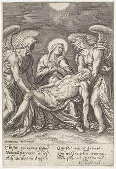 Pietà, Hieronymus Wierix, 1563 - voor 1573