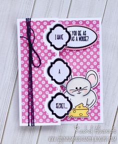 A fun flip-its card made using the Pudgie Mouse stamps & dies designed by Stephanie Barnard for The Stamps of Life and Sizzix.