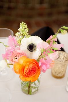 Anemone Arrangements, Wedding Flowers Photos by Reese Moore Weddings