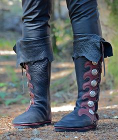 Knee-High Custom Viking Boots with Cuff - Custom Buffalo Moccasins - Leather Boots for Women - Leather Boots for Men - Lifetime Quality