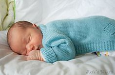 pattern for simple newborn sweater to keep warm without the hassle of buttons or pulling over head. (keep 'em cozy!!)