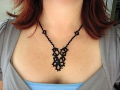 Tatted Necklace - I will master you some day!