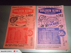 Before Lotto!.. My aunt did win the golden Kiwi.. Her ticket was  called... outside in...because she put her cardy on inside out...