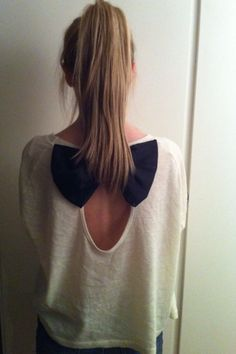 bow back sweater. This is so cute!
