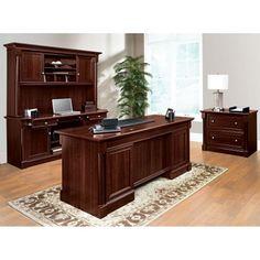 Palladia Executive Desk Office Set #homeoffice #shopthelook | National Business Furniture