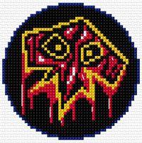 Perler bead Shaman symbol. World of Warcraft.