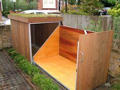 praktische garage fur fahrrader fahrradschuppen oder fahrradgarage im aussenbereich