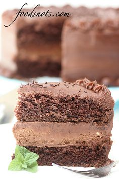 Chocolate Cheesecake Cake by Food Snots, via Flickr