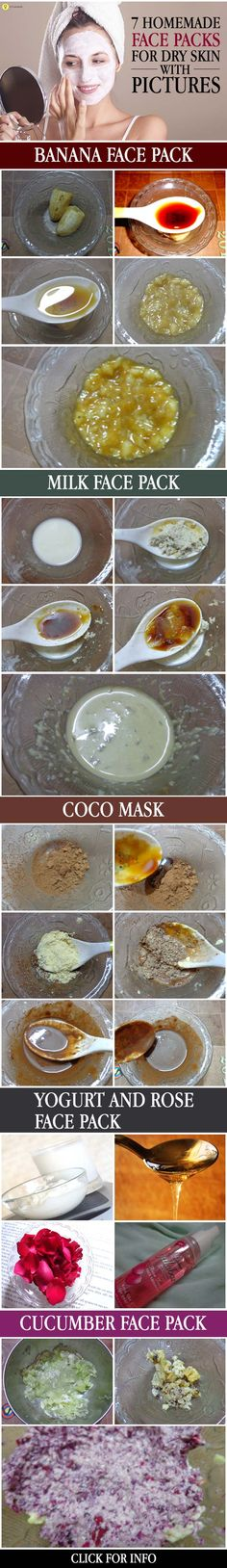 In addition, face packs for dry skin will help improve the condition of the skin, while locking in moisture. It would be ideal to choose homemade ...