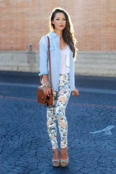 how to wear floral pants 5 s