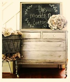 The Modern Cottage Company - silver metallic painted dresser