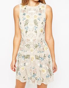 Image 3 ofNeedle & Thread China Rose Embellished Prom Dress
