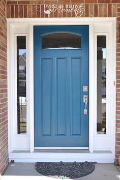 blue front doorPeacock Blue Front Door I always thought I was a red door kind of