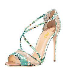 FSJ Women Graceful Open Toe Mesh Sandals High Heels Stilettos Strappy Shoes  Size 4-15 a42ba34962eb