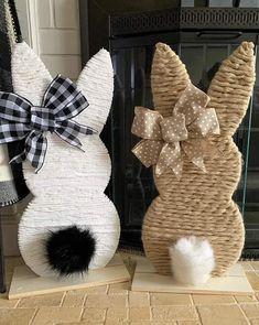 Easter Art, Hoppy Easter, Easter Bunny, Bunny Crafts, Easter Crafts, Easter Projects, Easter Ideas, Manualidades Halloween, Diy Easter Decorations