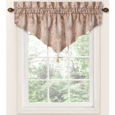 Waverly�20-in L Pearl Home Classics Ascot Valance
