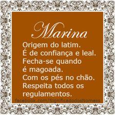 Significado do nome Marina   Significado dos Nomes