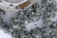 Sky Walk - wieża widokowa w ośrodku Dolni Morava w Czechach