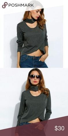 Choker blouse Super cute choker blouse. This blouse is gorgeous. Great for all seasons! Tops Blouses