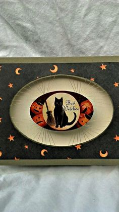 Handmade Halloween card with black cat. by AnniesKreations on Etsy, $6.00