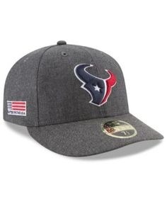 New Era Houston Texans Crafted In America Low Profile 59FIFTY Fitted Cap - Black 7 1/2